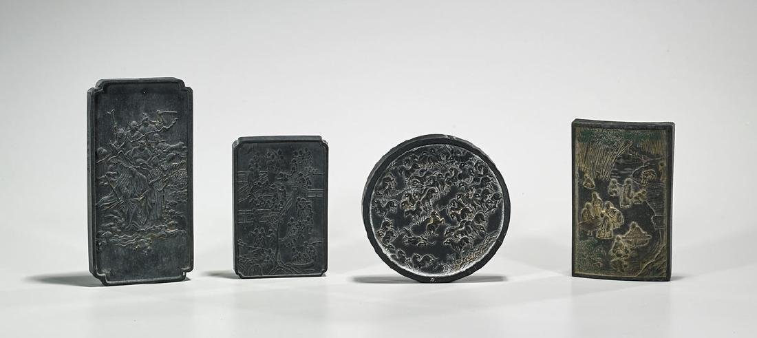 Group of Four Old Chinese Inkstones