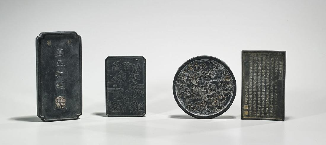 Group of Four Old Chinese Inkstones - 2