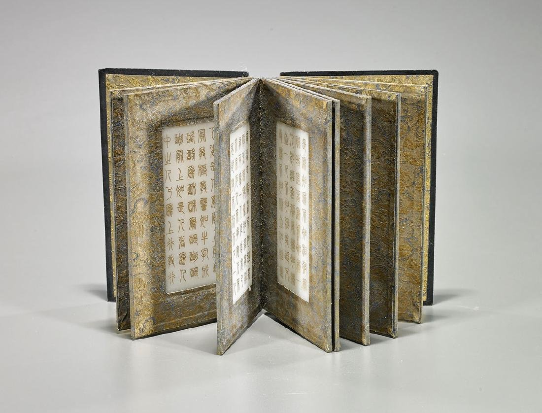 Chinese Carved Hardstone Book