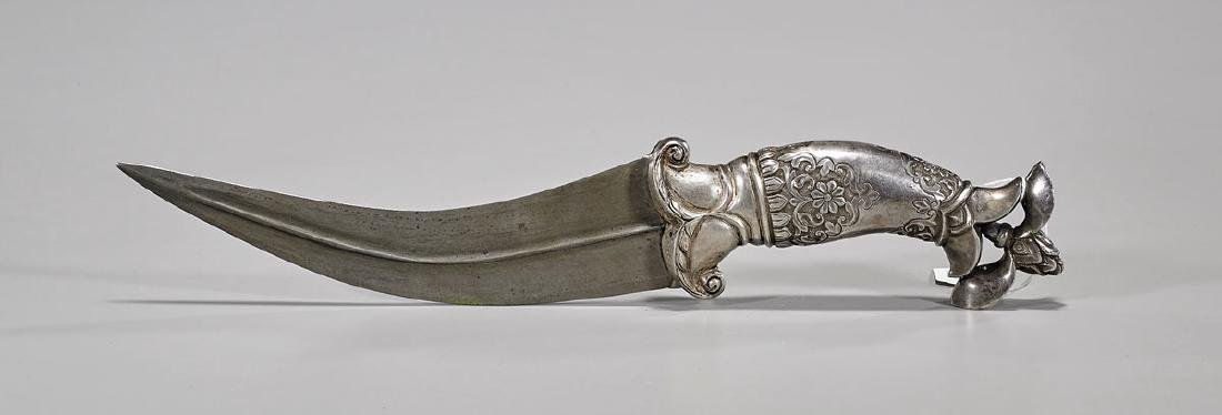 Mughal-Style Silver-Toned Metal Dagger