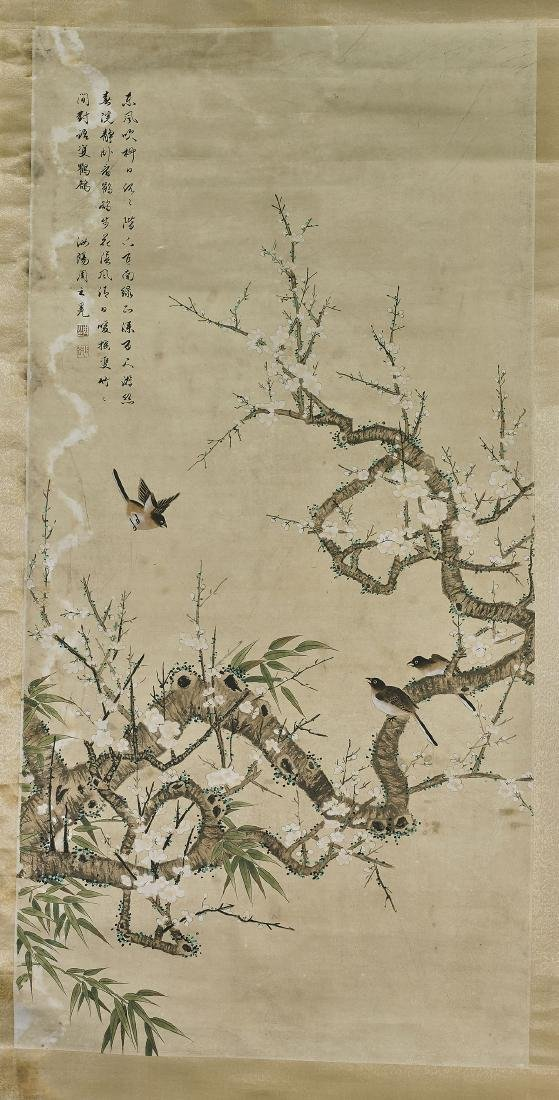 Two Chinese Scrolls After Zhao Mengfu & Zhou Zhimian