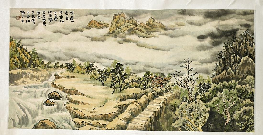 Group of Three Chinese Scrolls: Landscapes