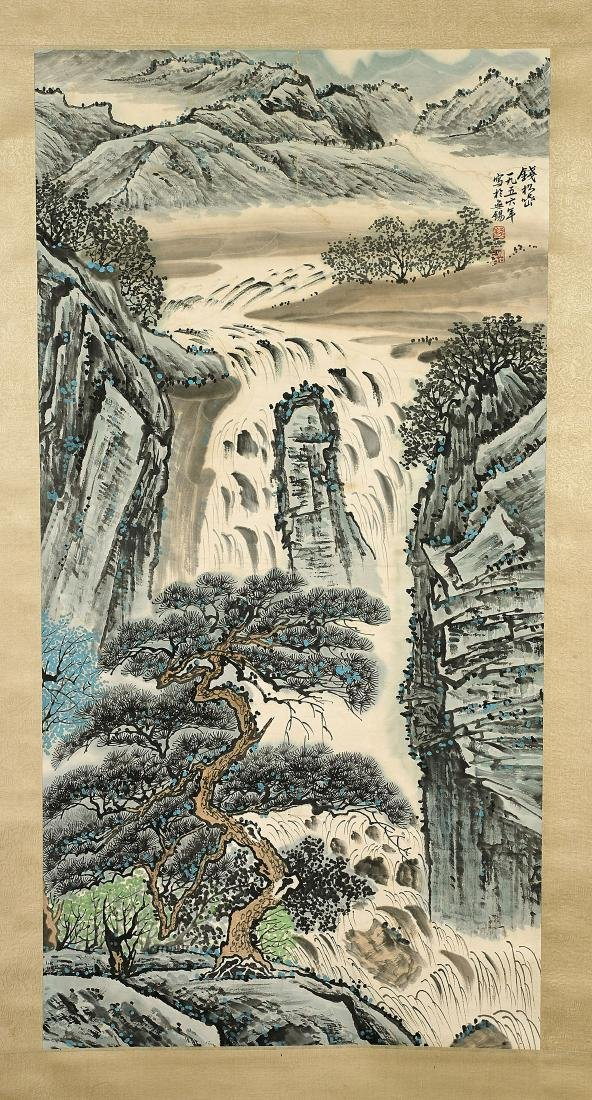 Group of Three Chinese Scrolls: Landscapes - 3