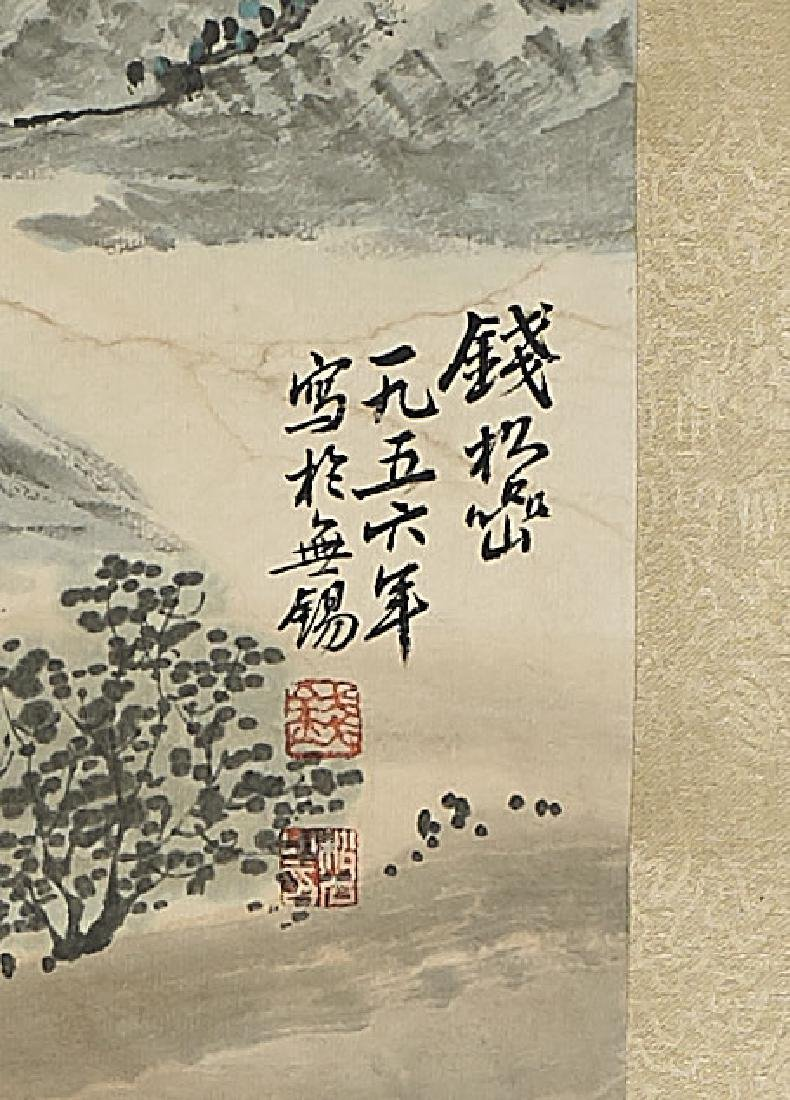 Group of Three Chinese Scrolls: Landscapes - 4