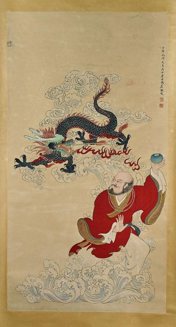 Two Chinese Scrolls: After Qi Baishi & Zhang Daqian