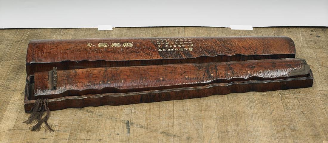 Chinese Lacquered Guqin Instrument