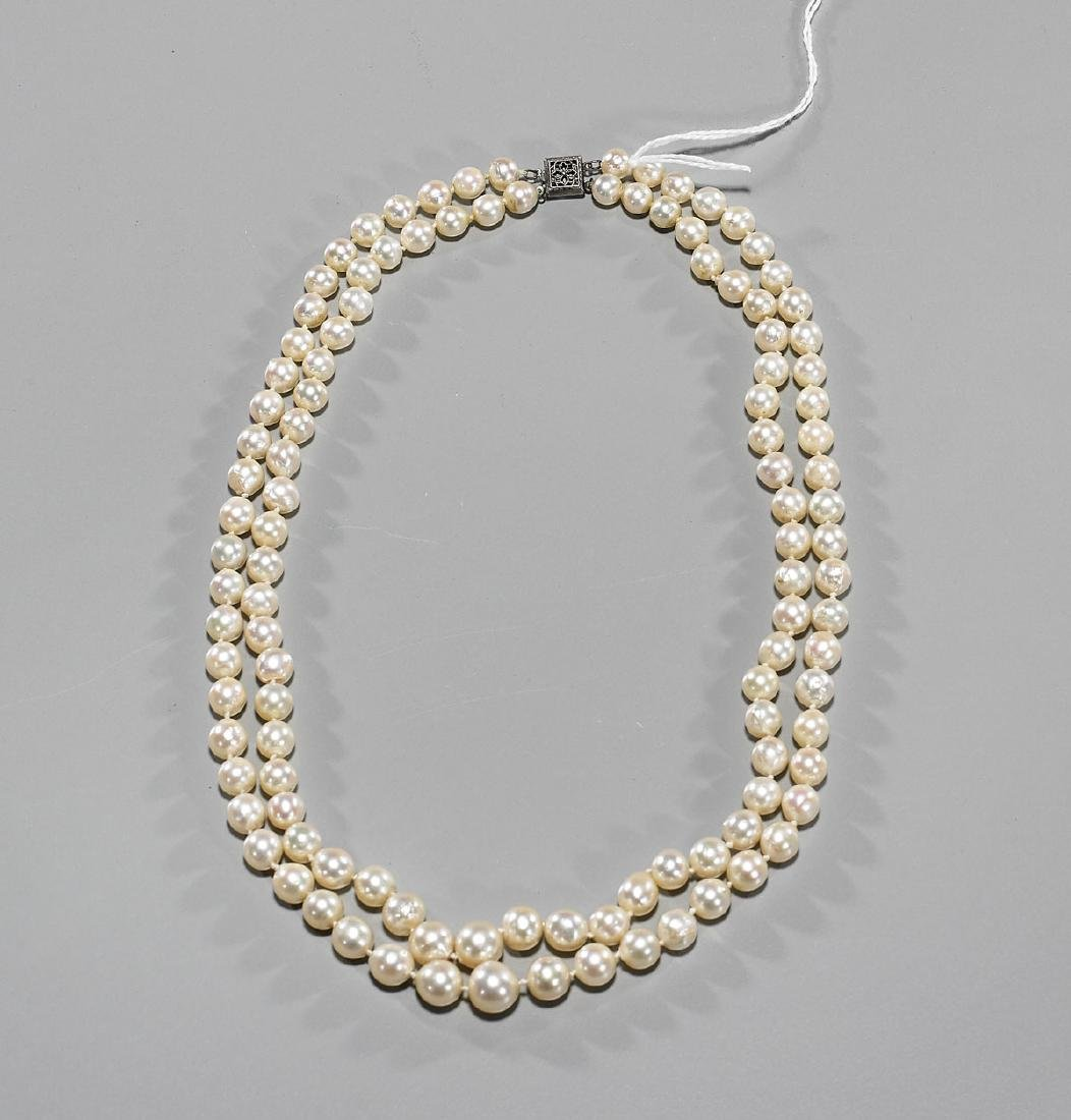 Two-Strand Pearl Necklace