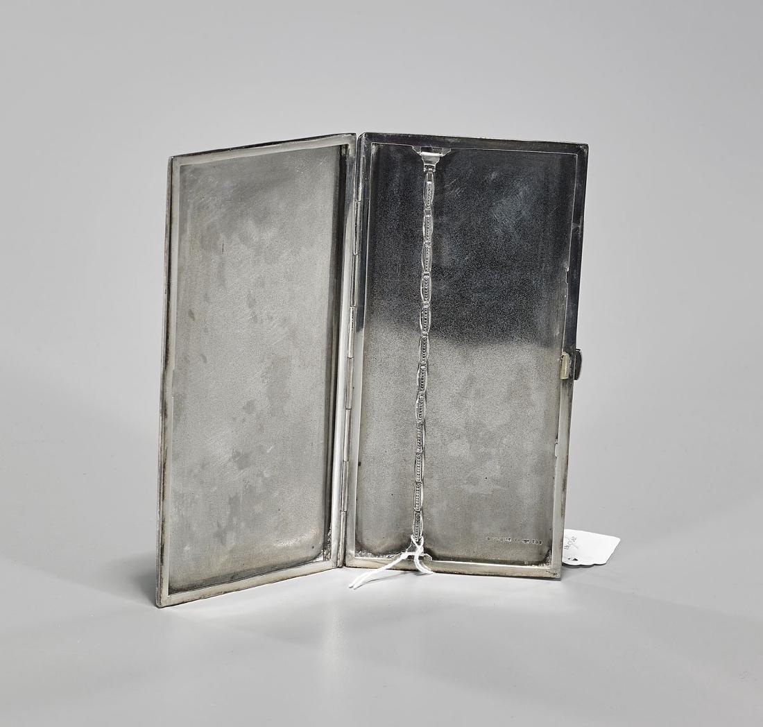 Old Japanese Sterling Silver Cigarette Case - 2