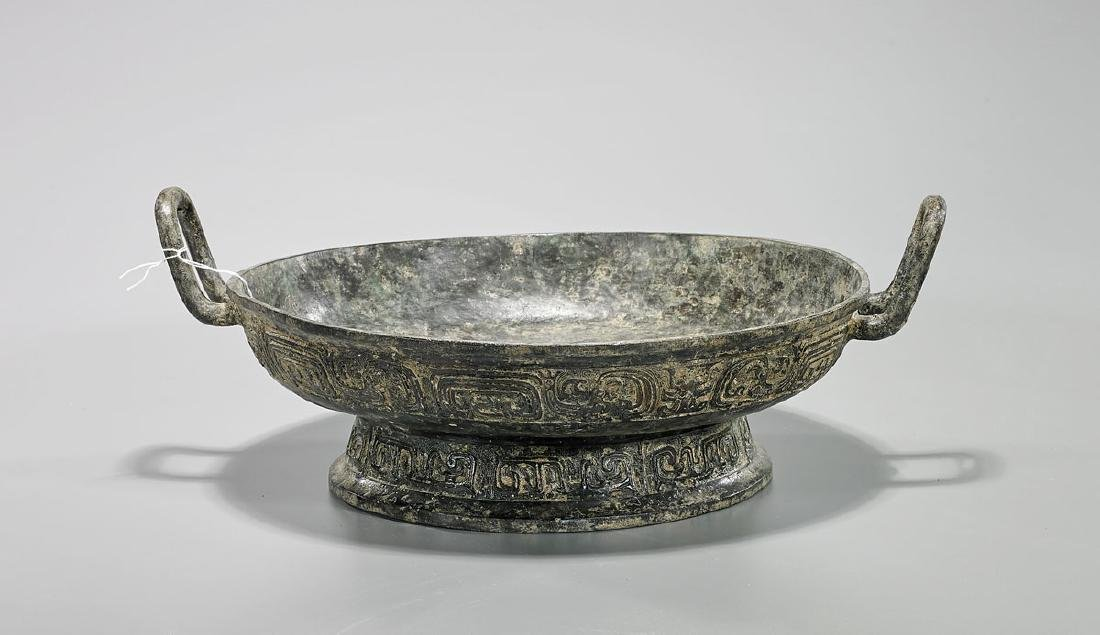 Large Archaistic Chinese Bronze Vessel