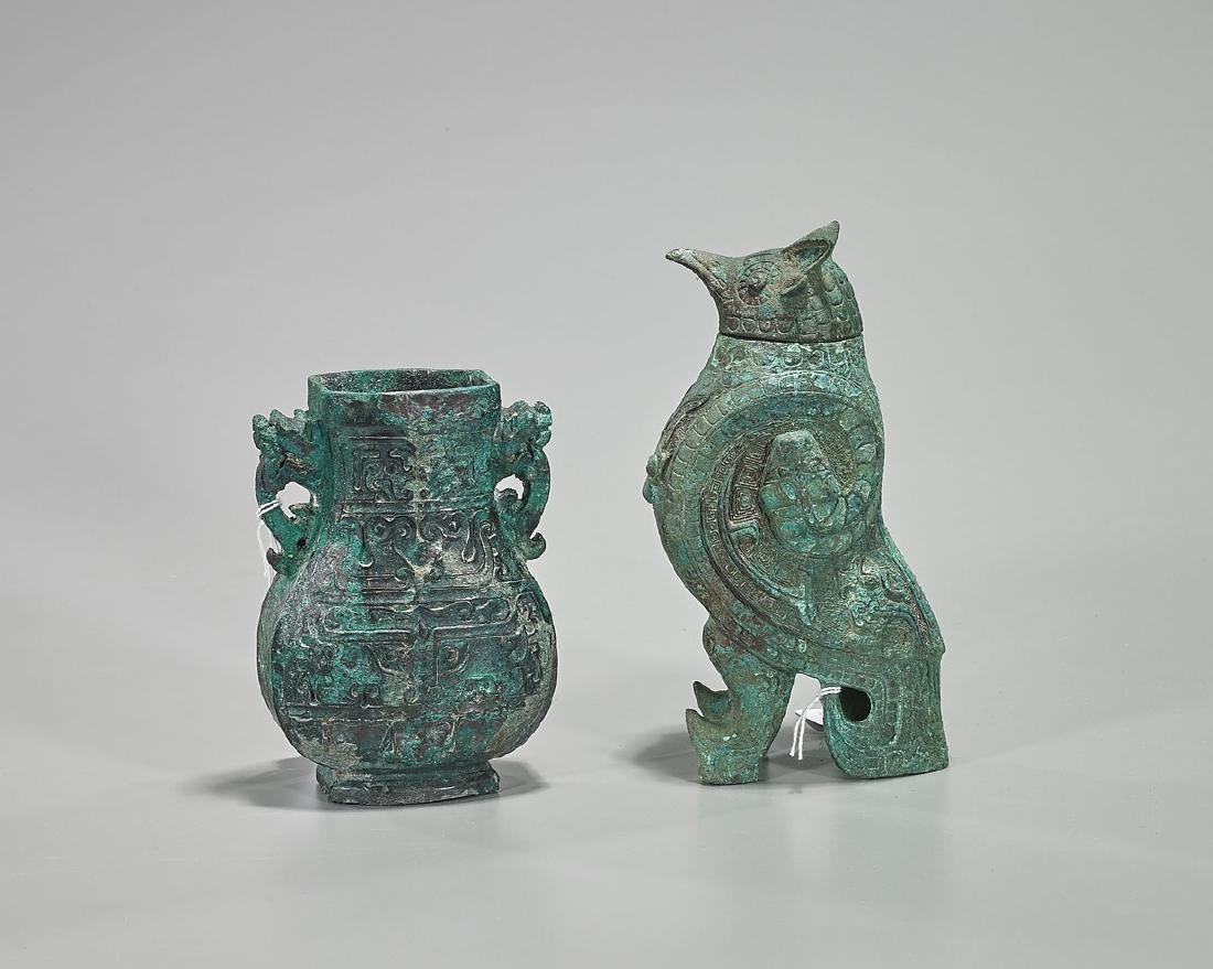 Two Chinese Archaic-Style Bronzes