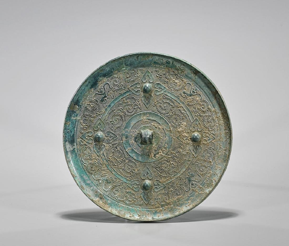 Chinese Archaic-Style Animal-Motif Bronze Mirror