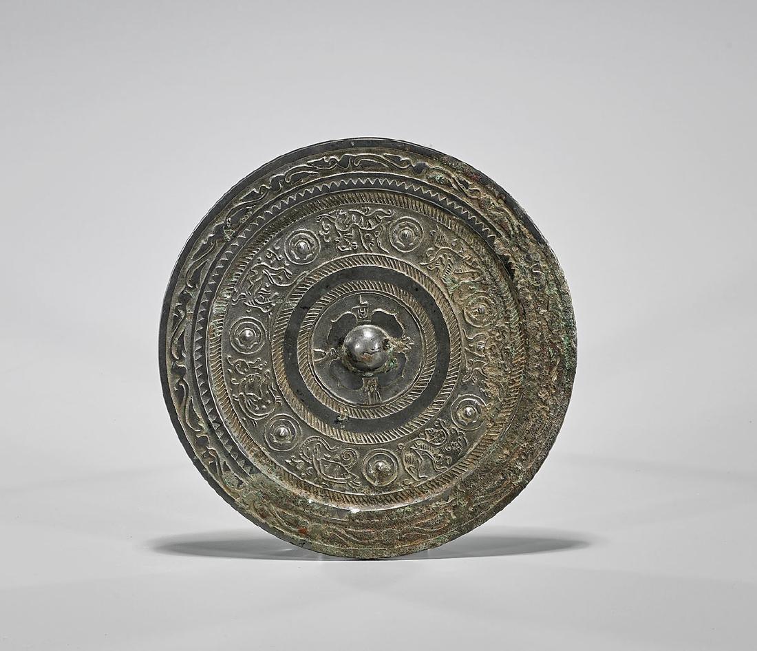 Chinese Archaic-Style Bronze Mirror