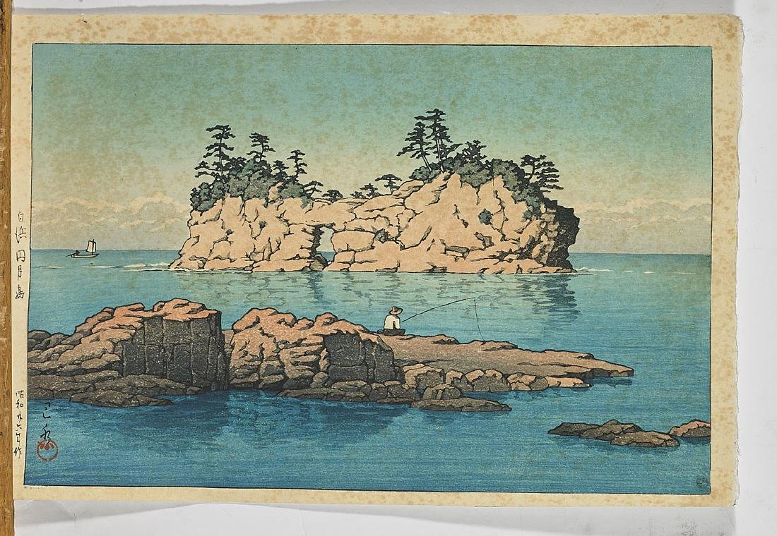 Two Japanese Woodblock Prints By Hasui Kawase