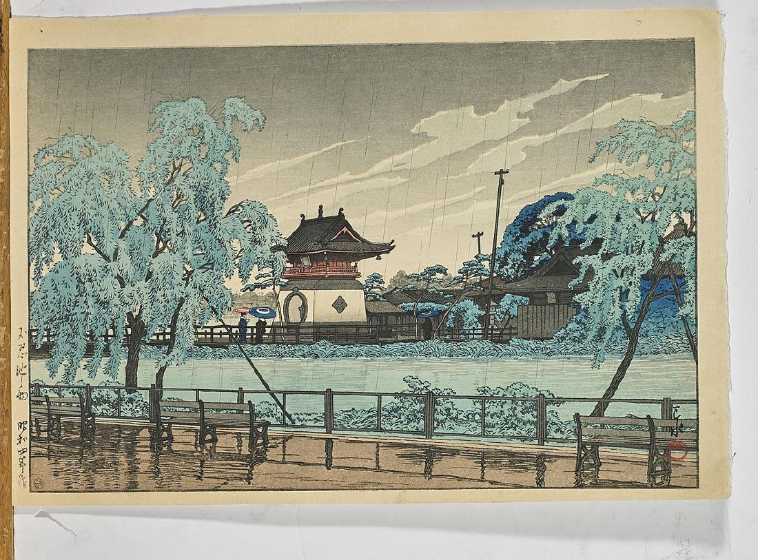 Two Japanese Woodblock Prints By Hasui Kawase - 2
