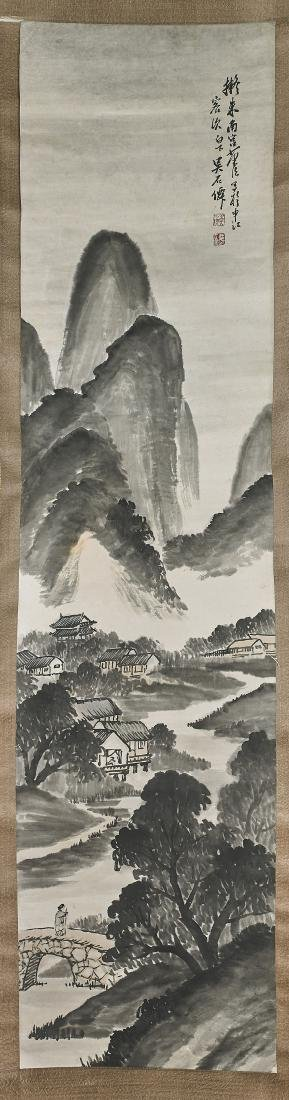 Two Chinese Scrolls After Zhu Da & Wu Shixian
