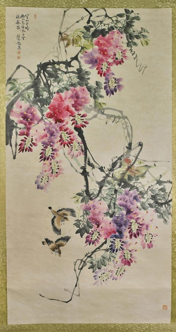 Two Chinese Scrolls After Yan Bolong & Zhao Shaoang