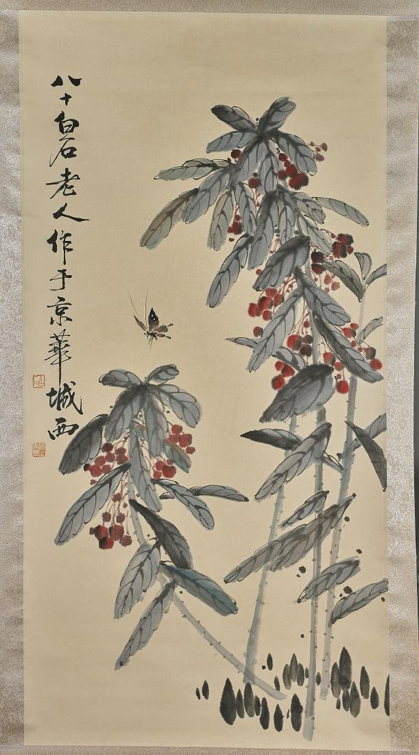 Two Chinese Scrolls After Qi Baishi
