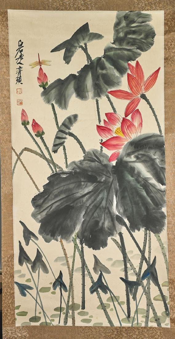 Two Chinese Scrolls After Qi Baishi - 3