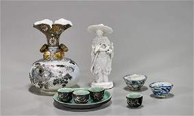 Group of Nine Various Chinese & Japanese Ceramics