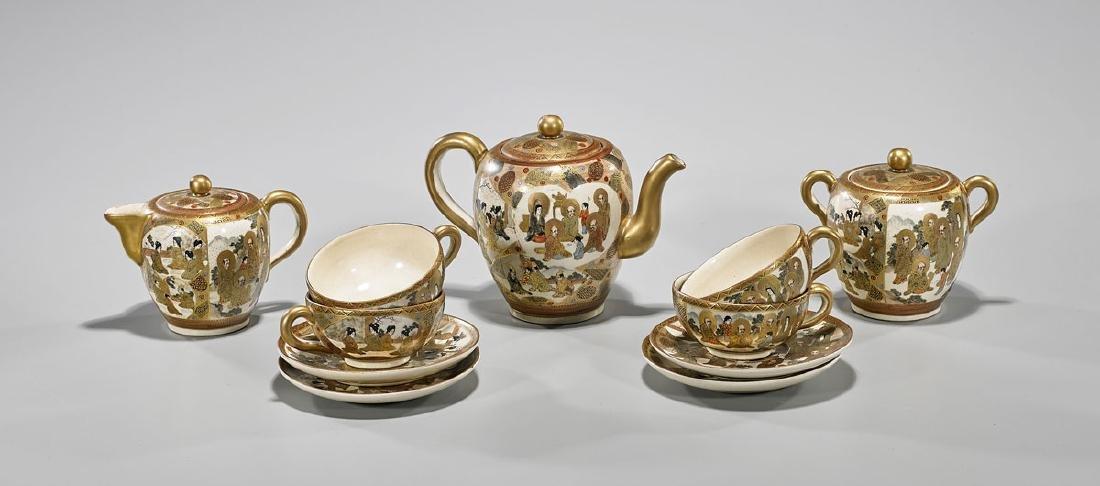 Antique Japanese Satsuma Earthenware Tea Set