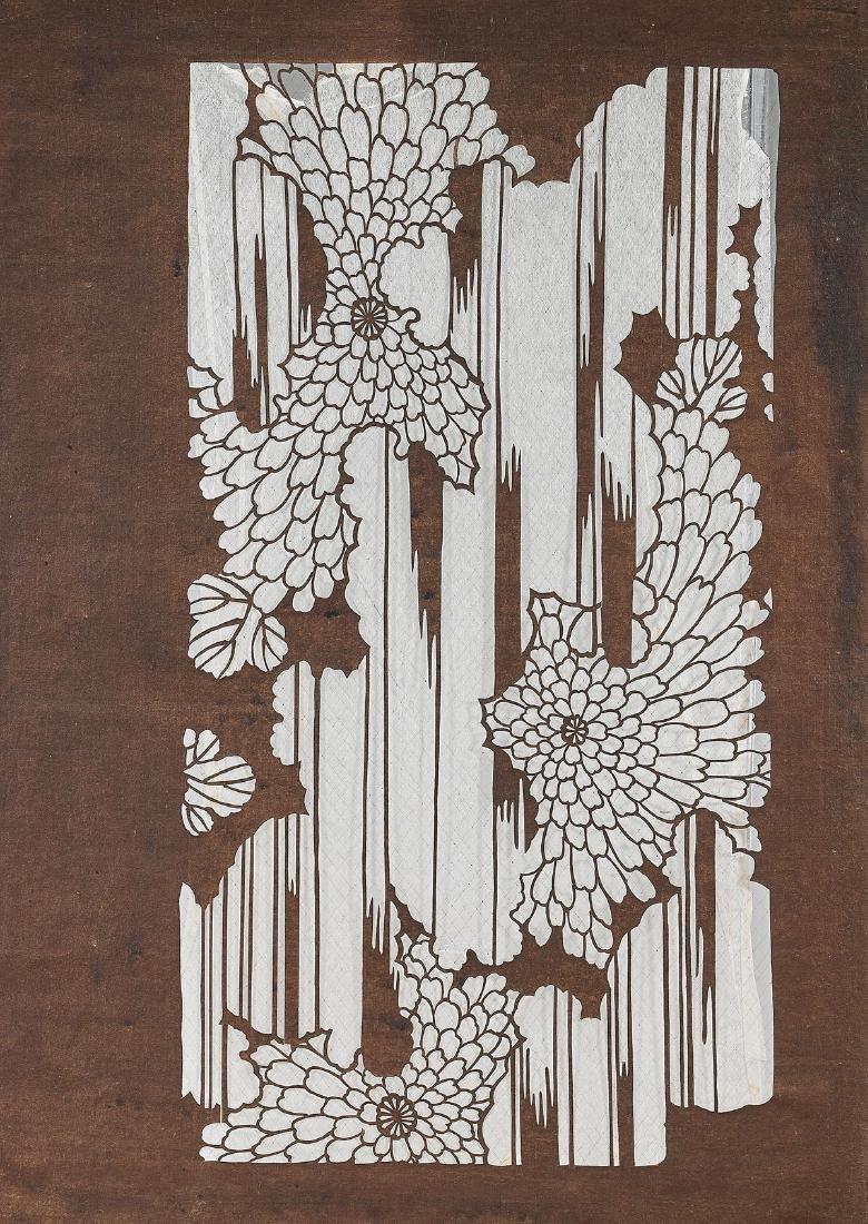 Two Japanese Katagami Stencils