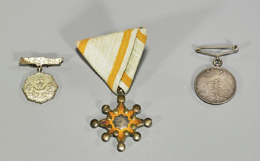 Group of Three Japanese Medals