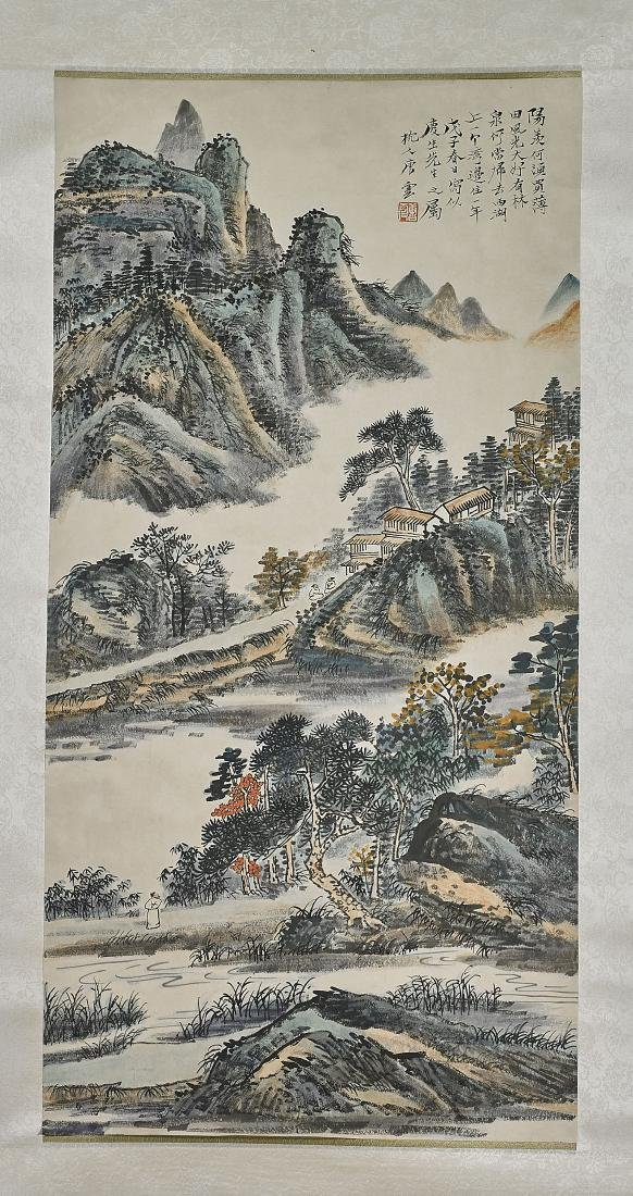 Two Chinese Scrolls After Jin Cheng & Tang Yun - 3