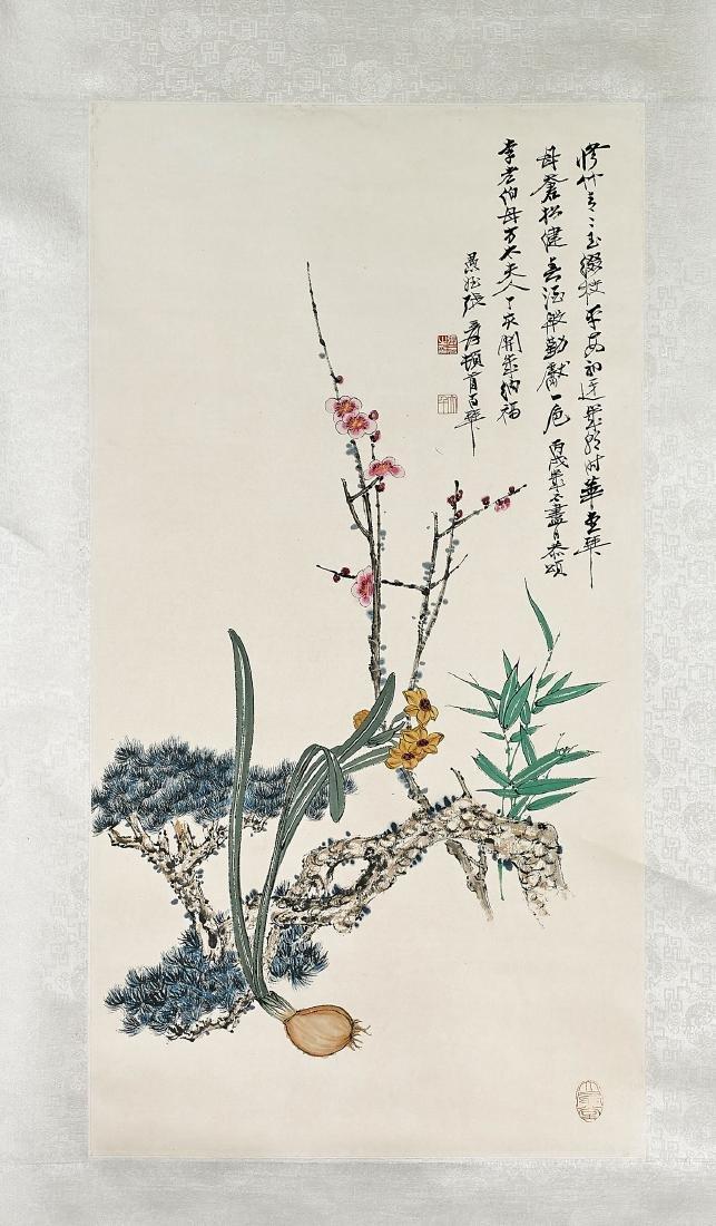 Two Chinese Scrolls After Jiang Miaochun & Zhang Daqian - 3
