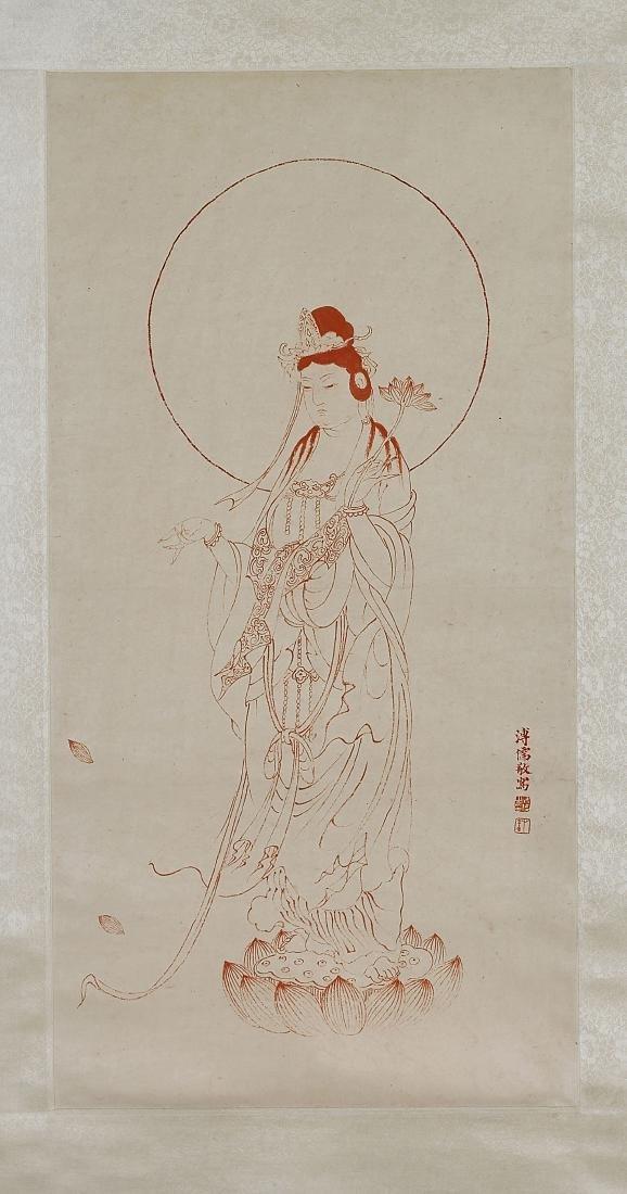 Two Chinese Scrolls After Qi Baishi & Pu Ru