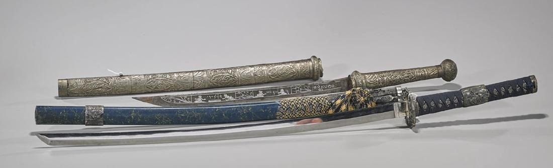 Two Japanese & Balinese Swords