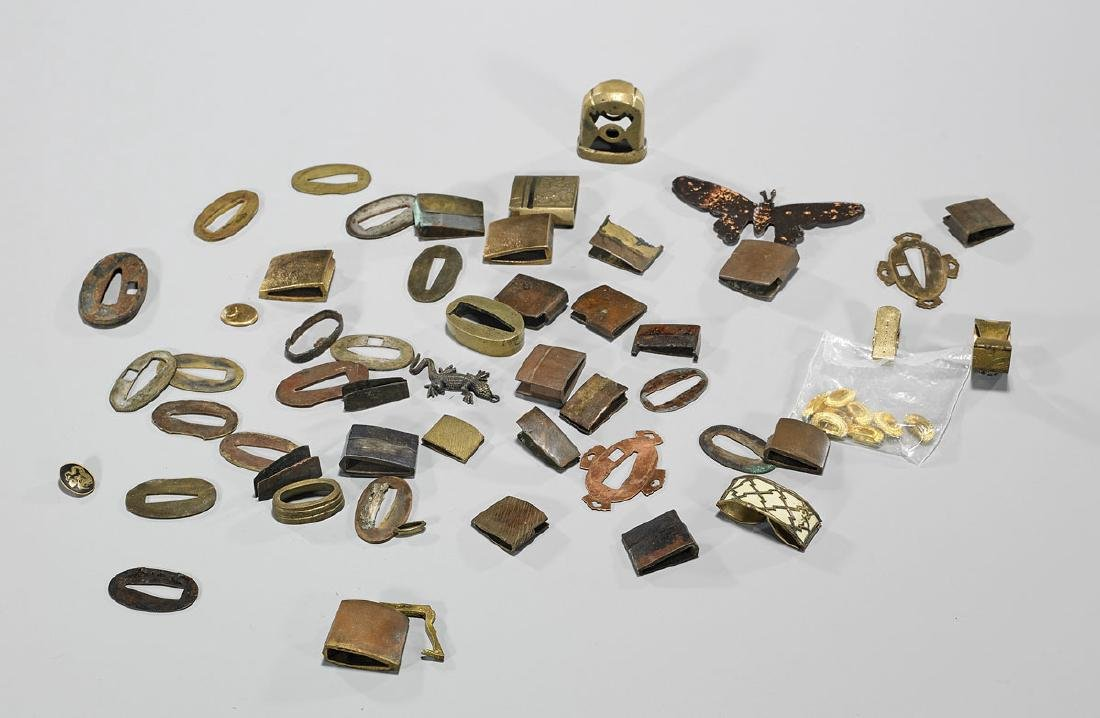 Collection of Assorted Japanese Sword Fittings