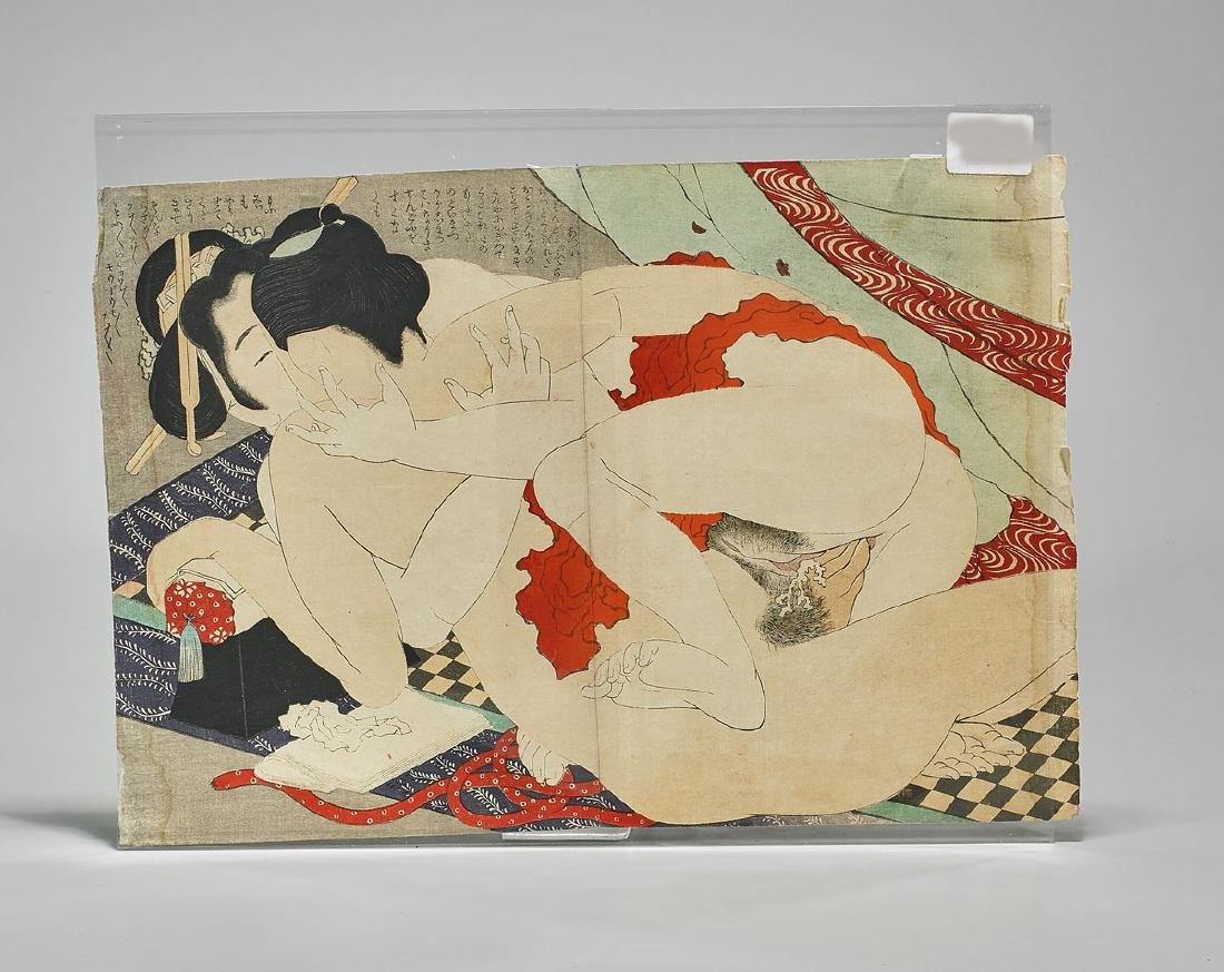 Antique Japanese Shunga Print