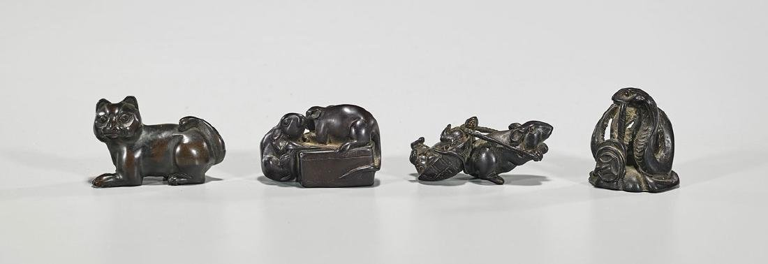 Group of Four Japanese Netsuke
