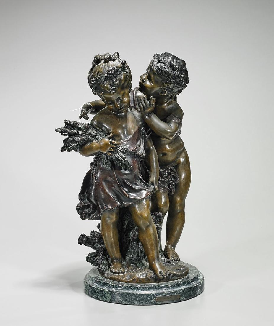 Bronze Group After Auguste Moreau: Deux Enfants