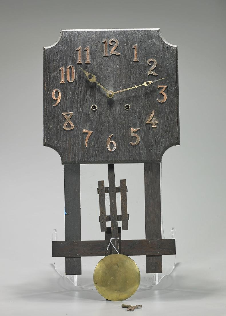 Wood Wall Clock By National Clock & Mfg. Company