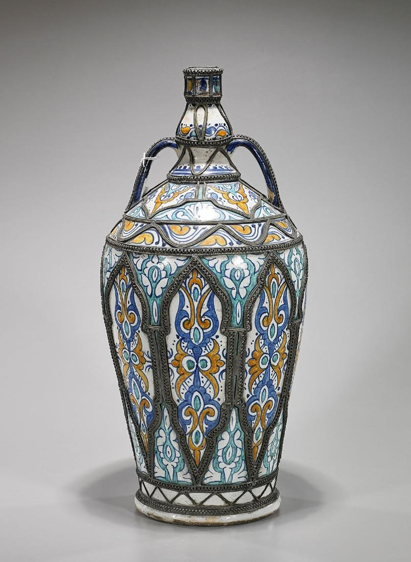 Old Moroccan Pottery Jar