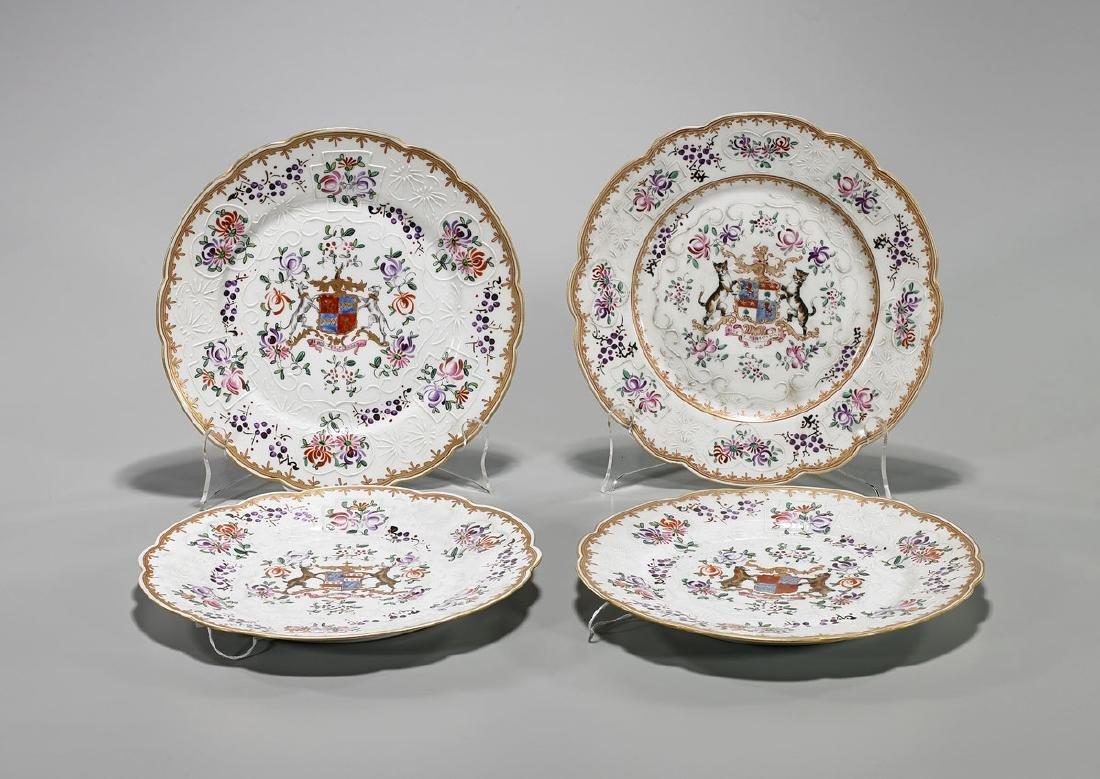 Set of Four Porcelaine De Paris Armorial Plates