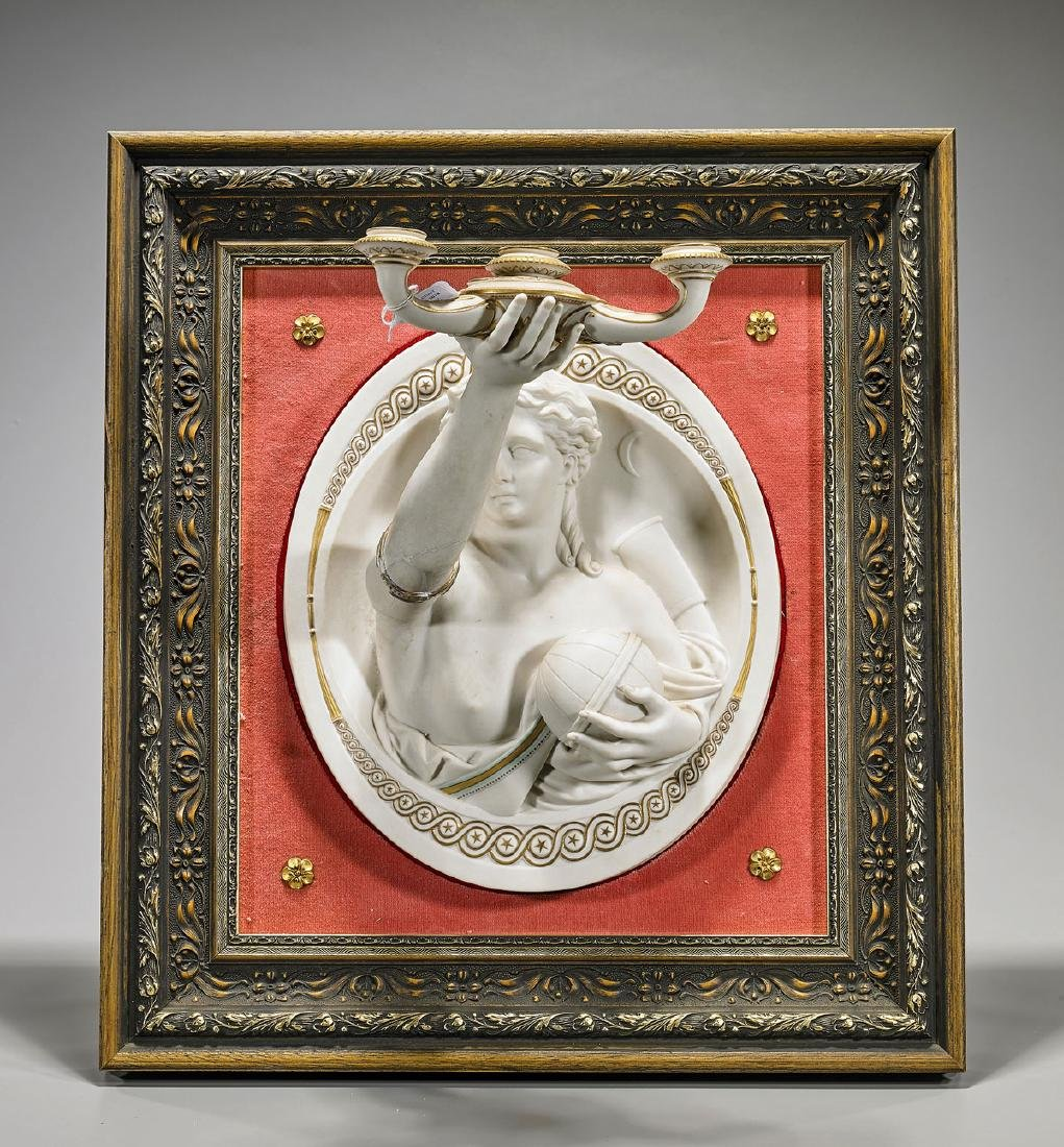 Parian Ware Figural Wall Sconce