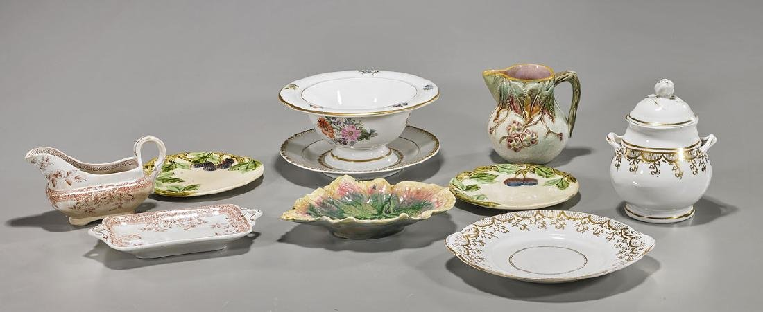 Group of Nine Continental Porcelains