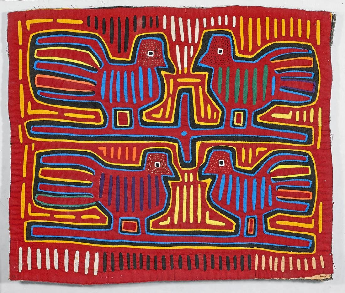 Three Mola Embroidered Textiles