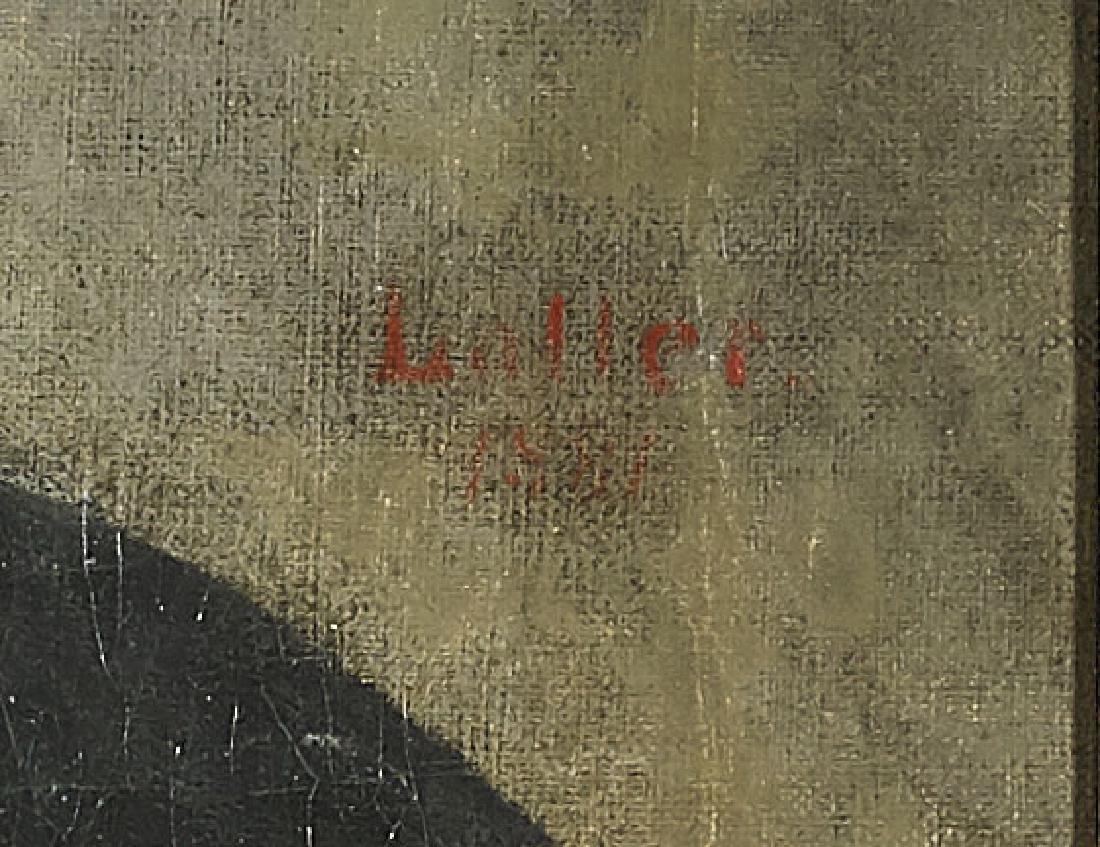 Antique Oil Portrait on Canvas - 2