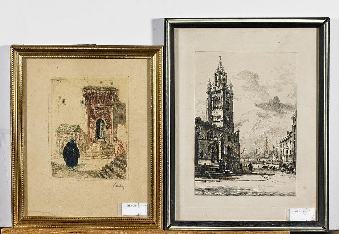Collection of Nine Various Etchings & Engravings