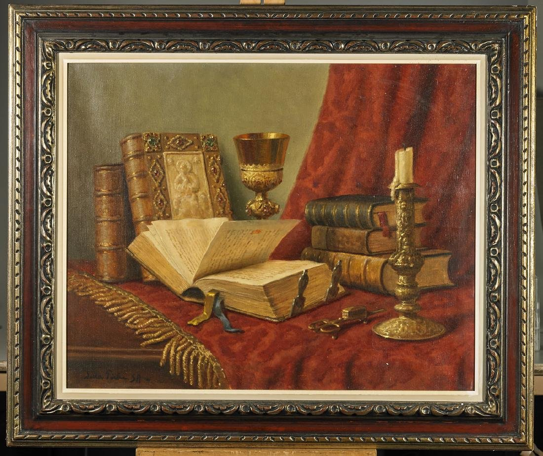 Religious Still Life on Canvas