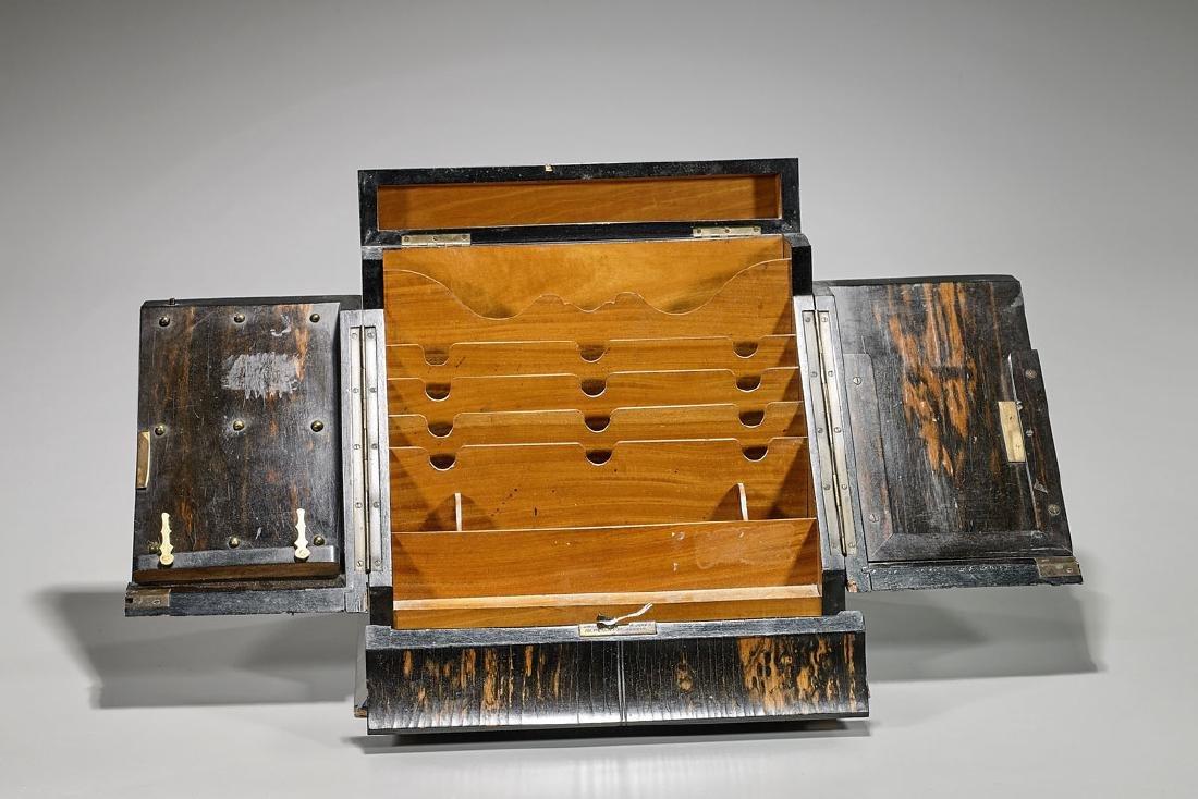 Antique Victorian Desktop Stationery Cabinet
