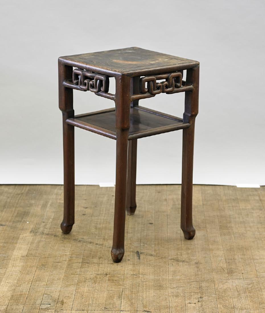Old Chinese Carved Hardwood Side Table