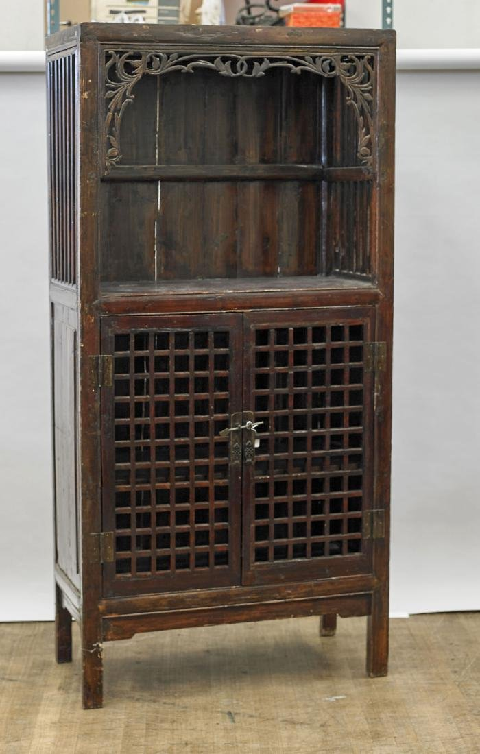 Antique Chinese Carved Wood Cabinet