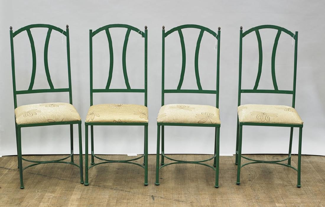 Set of Eight Metal Chairs