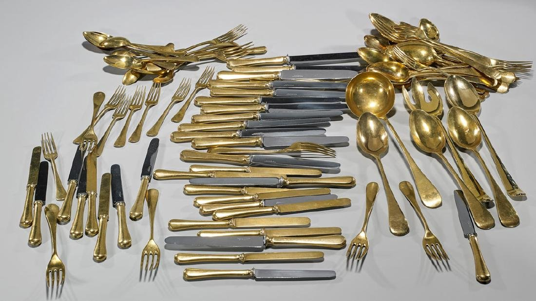 Collection of Assorted Gilt Metal Flatware