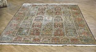 Large Persian-Style Silk Rug