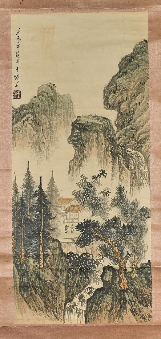 Two Chinese Landscape Scrolls